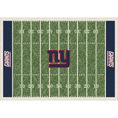 NFL Homefield New York Giants Football Indoor/Outdoor Area Rug Size: 78 x 109