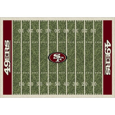 NFL Homefield San Francisco 49ers Football Indoor/Outdoor Area Rug Size: 109 x 132