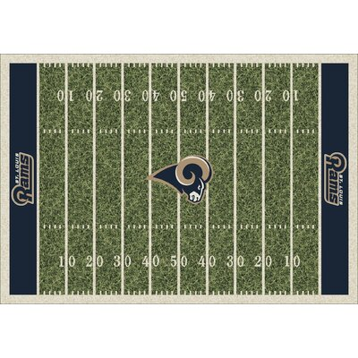 NFL Homefield St Louis Rams Football Indoor/Outdoor Area Rug Size: 109 x 132
