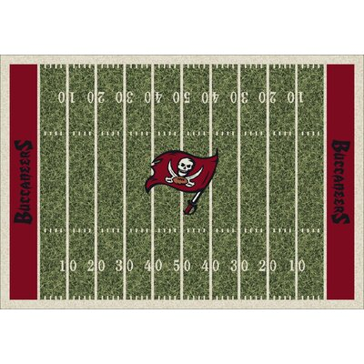 NFL Homefield Tampa Bay Bucs Football Indoor/Outdoor Area Rug Size: 54 x 78