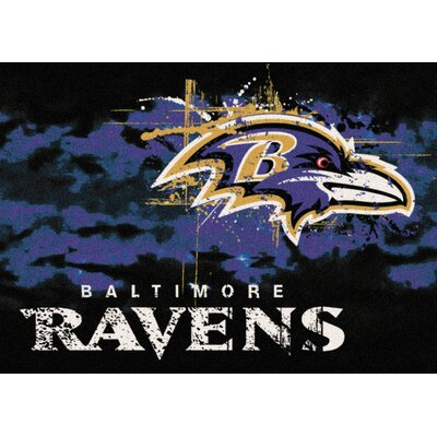 NFL Team Fade Baltimore Ravens Novelty Rug