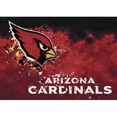 NFL Team Fade Novelty Rug NFL Team: Arizona Cardinals