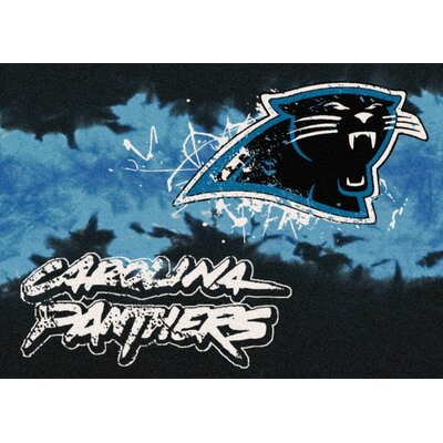 NFL Team Fade Carolina Panthers Novelty Rug