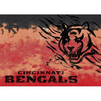 NFL Team Fade Cincinnati Bengals Novelty Rug