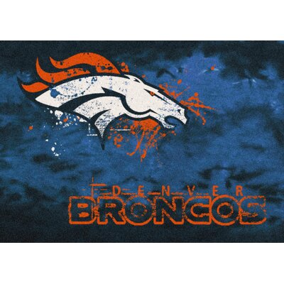 NFL Team Fade Denver Broncos Novelty Rug