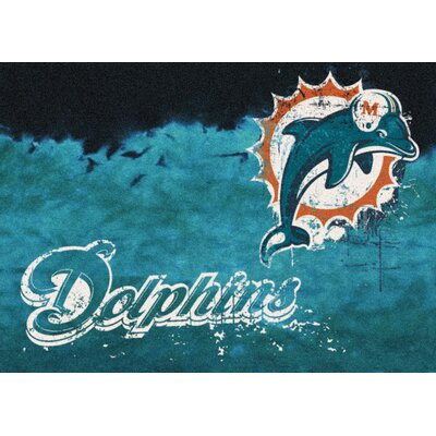 NFL Team Fade Miami Dolphins Novelty Rug