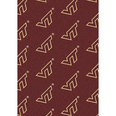 NCAA Repeating Virginia Tech Novelty Rug