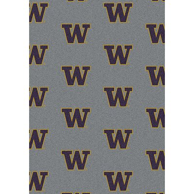 NCAA Repeating Washington Novelty Rug