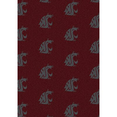NCAA Team Repeating Novelty Rug Rug Size: 310 x 54, NCAA Team: Washington State