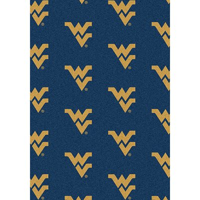 NCAA Team Repeating Novelty Rug Rug Size: 310 x 54, NCAA Team: West Virginia