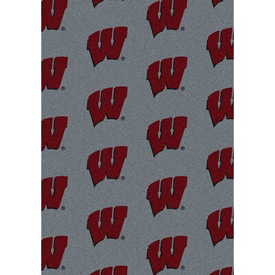 NCAA Repeating Wisconsin Novelty Rug