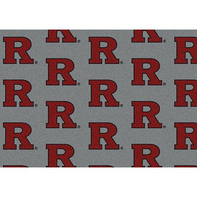 NCAA Repeating Rutgers Novelty Rug Rug Size: 109 x 132