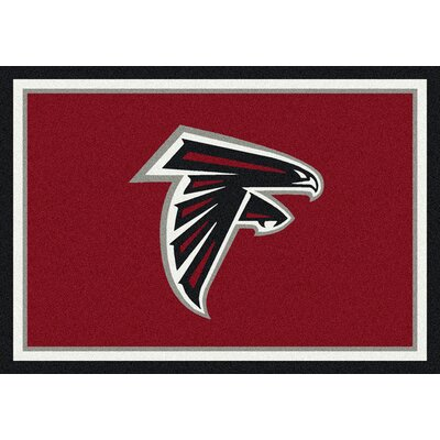 NFL Red Area Rug Rug Size: 28 x 310