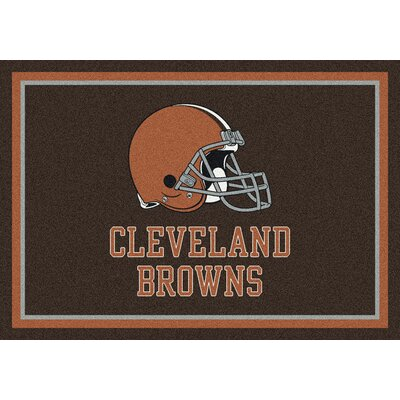 NFL Brown Area Rug Rug Size: 78 x 109