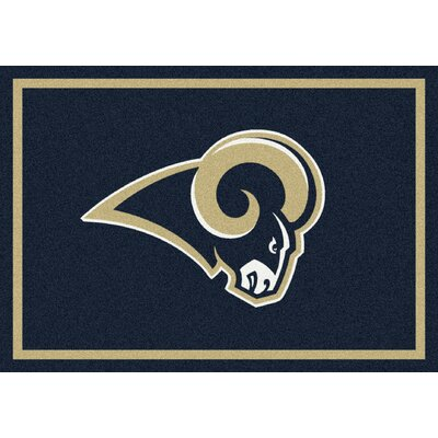 NFL Gold/Navy Blue Area Rug Rug Size: 78 x 109