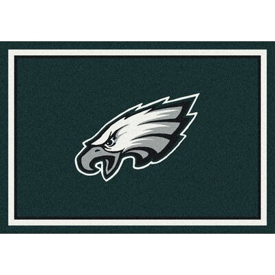NFL Light Green Area Rug Rug Size: 109 x 132