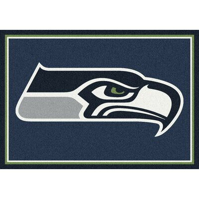 NFL Light Green Area Rug Rug Size: 78 x 109