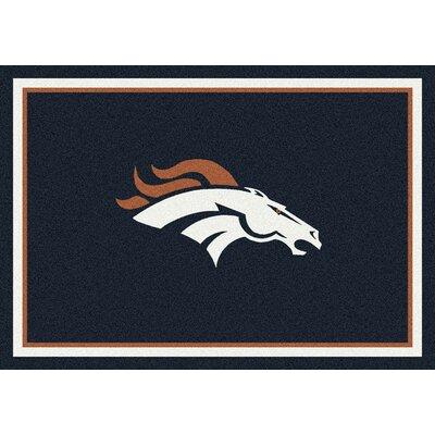 NFL Black Area Rug Rug Size: 109 x 132