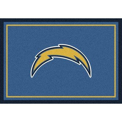 NFL Blue Area Rug Rug Size: 310 x 54