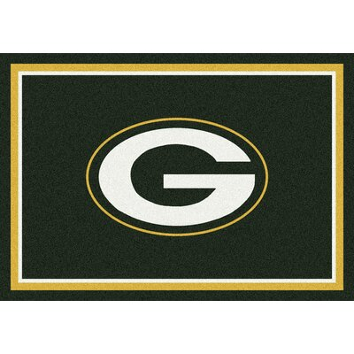 NFL Green Area Rug Rug Size: 109 x 132