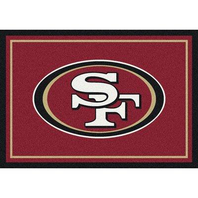 NFL Scarlet/Gold Area Rug Rug Size: 54 x 78