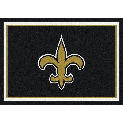 NFL Black Area Rug Rug Size: 78 x 109