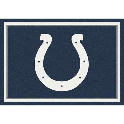 NFL White/Blue Area Rug Rug Size: 28 x 310