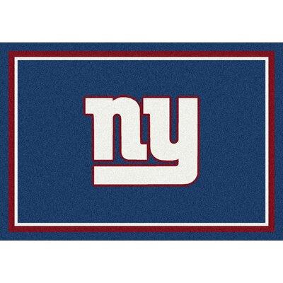 NFL Blue Area Rug Rug Size: 109 x 132