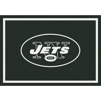NFL Green/White Area Rug Rug Size: 109 x 132