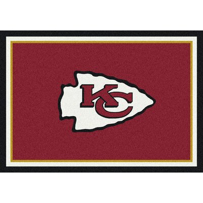 NFL Red/Gold Area Rug Rug Size: 54 x 78