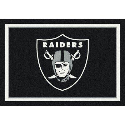 NFL Black Area Rug Rug Size: 54 x 78