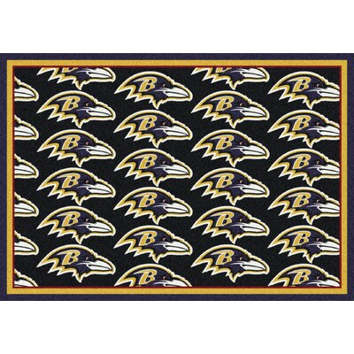 NFL Team Repeat Baltimore Ravens Football Indoor/Outdoor Area Rug Size: 109 x 132