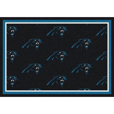 NFL Team Repeat Carolina Panthers Football Indoor/Outdoor Area Rug Size: 109 x 132