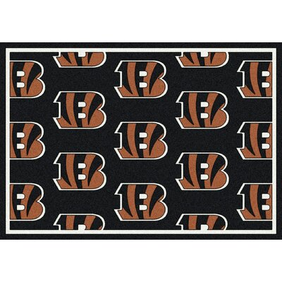 NFL Team Repeat Cincinnati Bengals Football Indoor/Outdoor Area Rug Size: 109 x 132