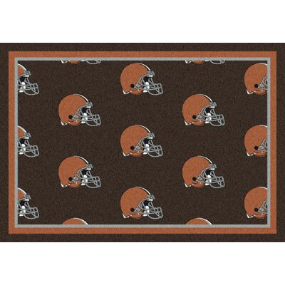 NFL Team Repeat Cleveland Browns Football Indoor/Outdoor Area Rug Size: 54 x 78