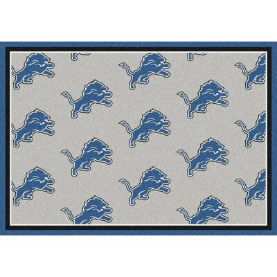 NFL Team Repeat Detroit Lions Football Indoor/Outdoor Area Rug Size: 54 x 78