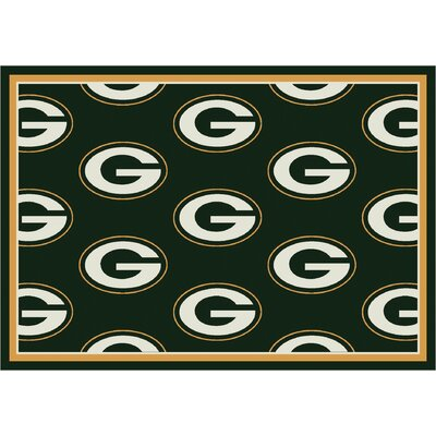 NFL Team Repeat Green Bay Packers Football Indoor/Outdoor Area Rug Size: 109 x 132