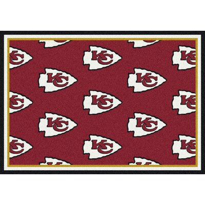 NFL Team Repeat Kansas City Chiefs Football Indoor/Outdoor Area Rug Size: 310 x 54
