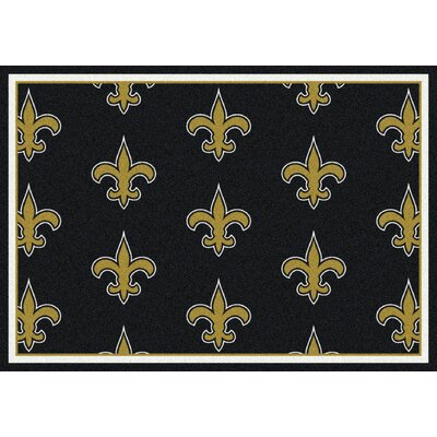 NFL Team Repeat New Orleans Saints Football Indoor/Outdoor Area Rug Size: 109 x 132