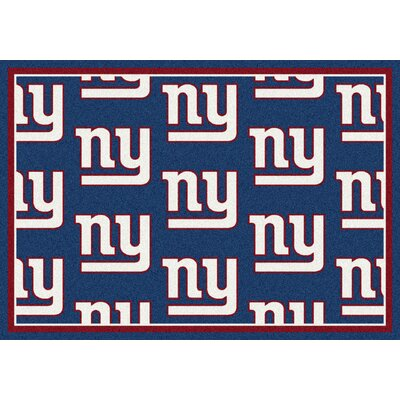 NFL Team Repeat New York Giants Football Indoor/Outdoor Area Rug Size: 78 x 109
