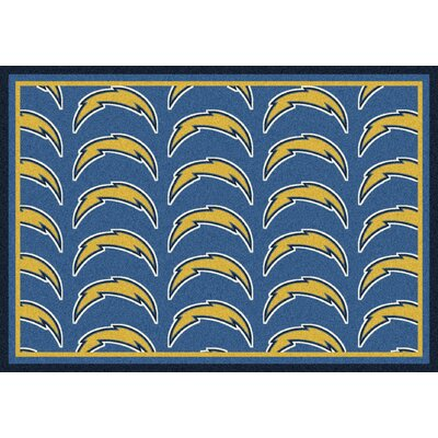 NFL Team Repeat San Diego Chargers Football Indoor/Outdoor Area Rug Size: 78 x 109
