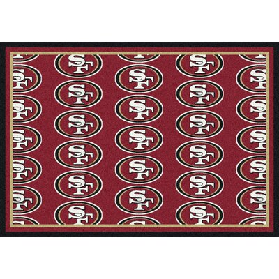 NFL Team Repeat San Francisco 49ers Football Indoor/Outdoor Area Rug Size: 109 x 132