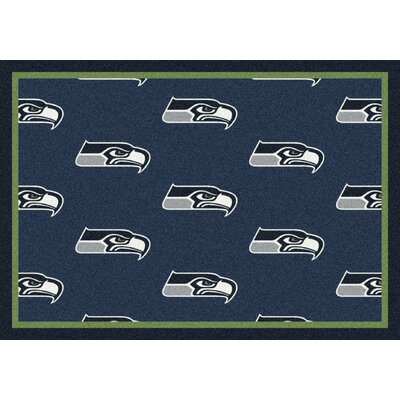NFL Team Repeat Seattle Seahawks Football Indoor/Outdoor Area Rug Size: 54 x 78