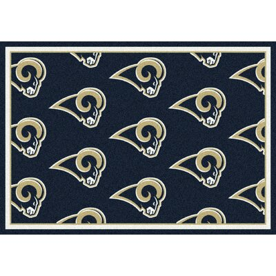 NFL Team Repeat St Louis Rams Football Indoor/Outdoor Area Rug Size: 54 x 78