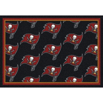 NFL Team Repeat Tampa Bay Bucs Football Indoor/Outdoor Area Rug Size: 54 x 78