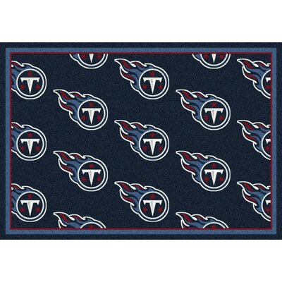 NFL Team Repeat Tennessee Titans Football Indoor/Outdoor Area Rug Size: 109 x 132