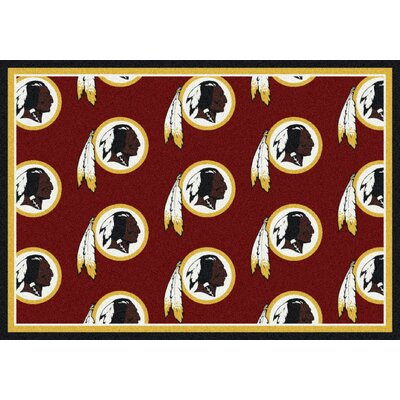 NFL Team Repeat Washington Redskins Football Indoor/Outdoor Area Rug Size: 78 x 109