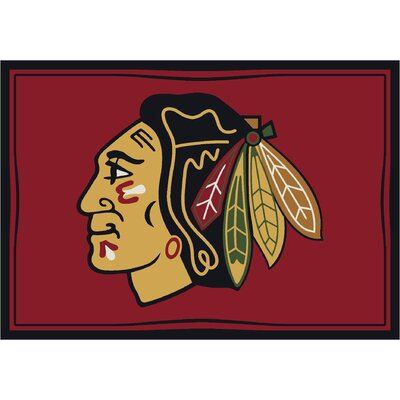 NHL Chicago Blackhawks 533322 1061 2xx Novelty Rug Rug Size: 310 x 54