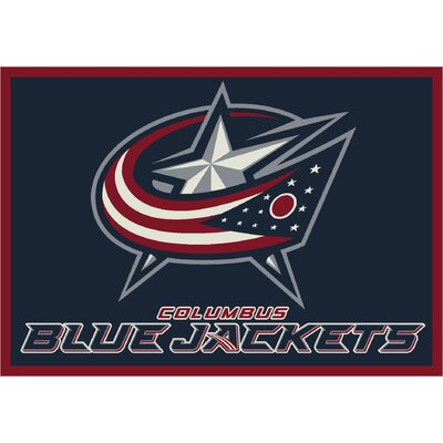 NHL Area Rug NHL Team: Columbus Bluejackets