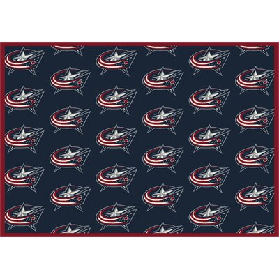 NHL Columbus Bluejackets 533322 1082 2xx Novelty Rug Size: 109 x 132